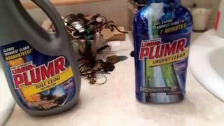 Sink Drain Clog Remover Comparison Liquid Plumr Full Clog Vs Liquid P