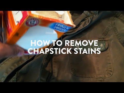 Remove Chapstick Stains in a Snap!  Cleaning Hack