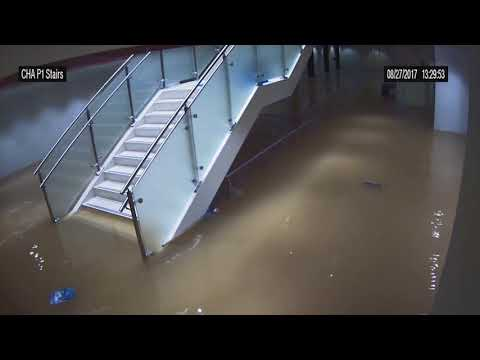 Harvey flooding: City Hall tunnel and stairwell