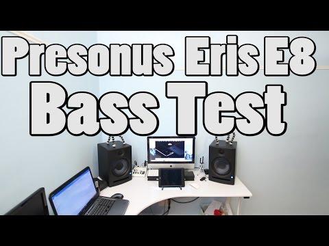 Presonus Eris E8 Studio Monitors Bass test
