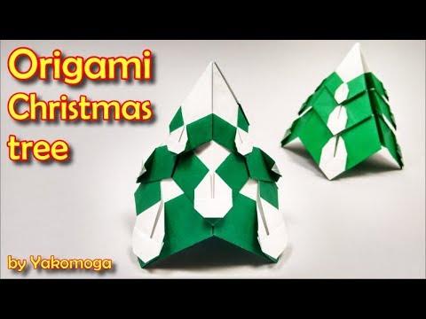 Origami Christmas Tree by Yakomoga - Yakomoga Origami Easy tutorial
