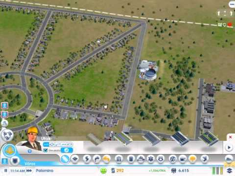 Simcity 2013 Square city with high traffic