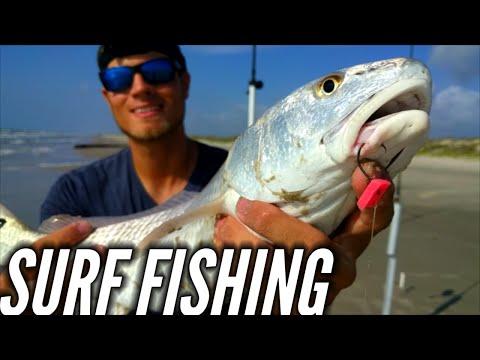 Surf fishing with FishBites? Redfish!!!