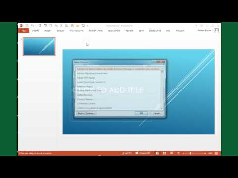 Embedding a YouTube video in PowerPoint 2011, 2013