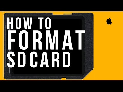 How to Format any SD CARD on Mac and Windows, how to set up sdhc