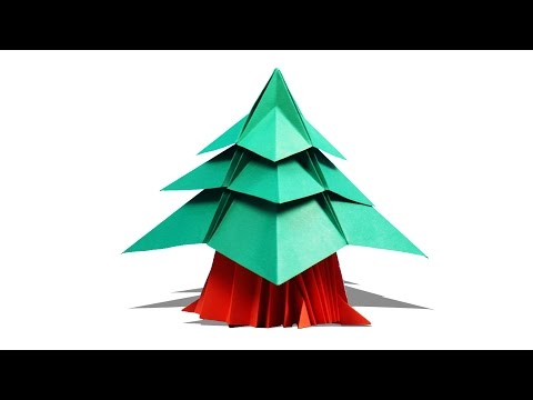 3D Origami Christmas Tree   How To Make Origami Christmas Tree   Christmas Origami   Art And Craft