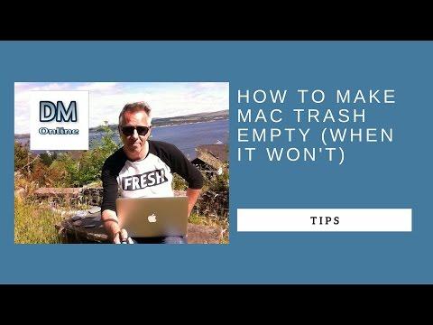 Mac Trash Won't empty? Here's how to sort it
