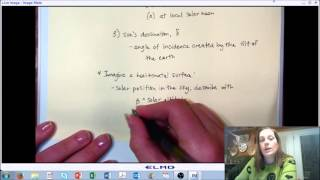 LECTURE 7 (PART C): Solar Radiation - Solar Angles