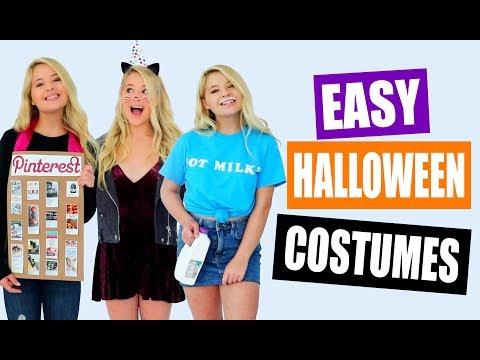 Easy Last Minute Halloween Costumes!