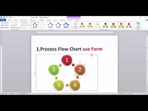 How to draw Flow Chart with Microsoft  Word