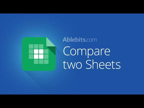 Compare Google Sheets for duplicates