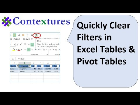 Quickly Clear Filters in Excel Tables and Pivot Tables