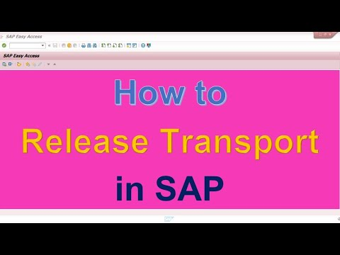 How to Release Transport in SAP