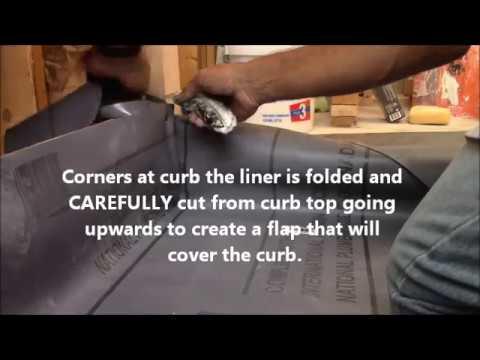 SHOWER PAN LINER INSTALL ..DIY