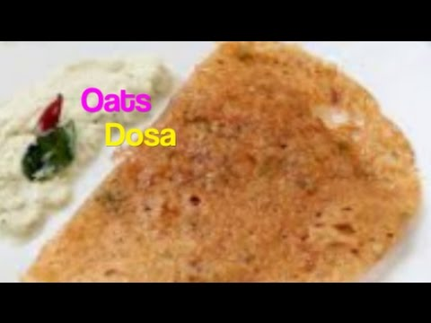 How to cook quick OATS DOSA !!! crispy !!!