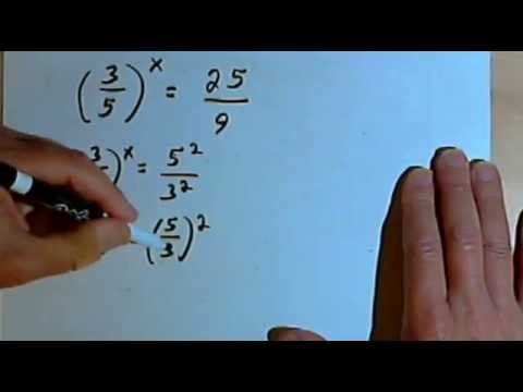 Solving Exponential Equations by Finding a Common Base 143-5.2.3