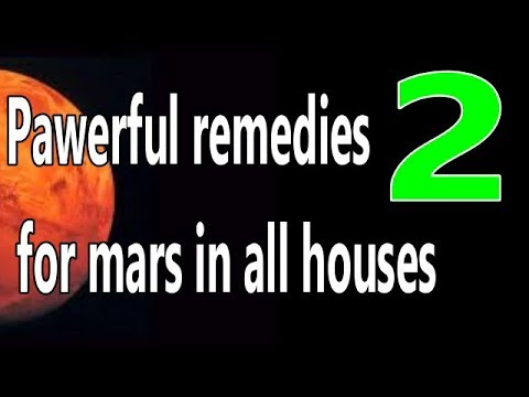Powerful remedies for mars in Lalkitab Astrology for all 12 houses