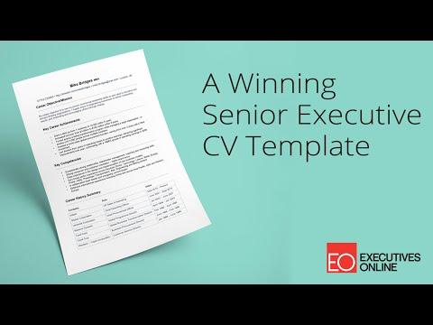 A Winning Senior Executive CV Template - EO Masterclass Part 1