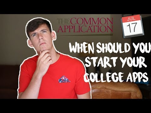 COLLEGE ESSAY GUIDE: WHEN SHOULD I START MY COLLEGE APPLICATION?