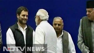 PM Narendra Modi, Rahul Gandhi shake hands on Sharad Pawar