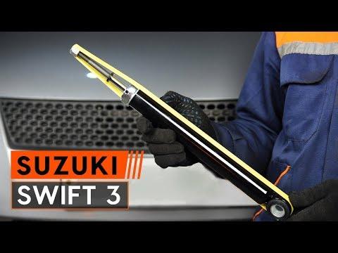 How to replace rear shock absorber onSUZUKI SWIFT 3 Hatchback[TUTORIAL AUTODOC]