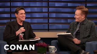 Jim Carrey & Conan Sketch Each Other - CONAN on TBS