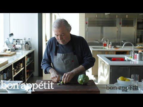 Jacques Pépin Preps an Artichoke