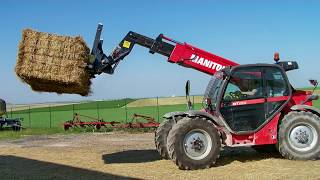 World Amazing Modern Agriculture Equipment Mega Machines Hay Bale Handling Tractor Loader Forklift