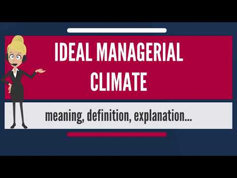 What is IDEAL MANAGERIAL CLIMATE? What does IDEAL MANAGERIAL CLIMATE mean?