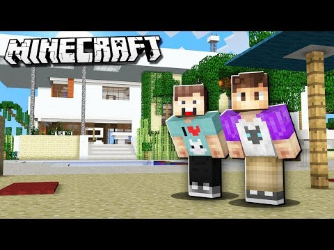 DENIS & ALEX BUILD THEIR REAL LIFE HOUSES IN MINECRAFT!