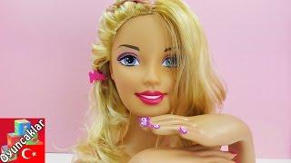 Barbie Oyuncak Videosu Türkçe - Barbie Makyaji Ve Saç Modelleri Yapiyoruz!