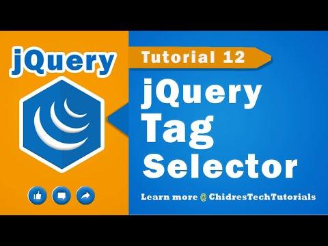 jQuery video tutorial 12 - jQuery tag selector