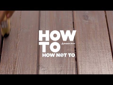 How-To Stain a Deck Right | Arborcoat Stain by Benjamin Moore