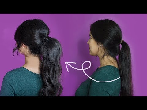 How to Make Thin Hair Look Thicker and Fuller with a Ponytail | Tutorial Tips & Tricks Quick & Easy