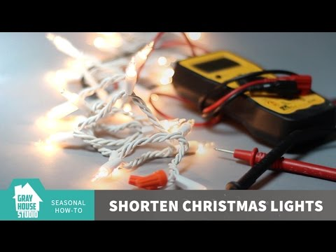 Shorten Christmas Lights // How-To