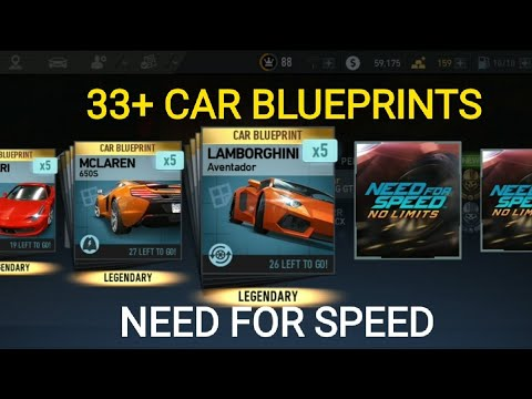 Need For Speed 33+ Car Blueprints & 11+ Gifts WOOOOW !