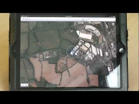 Show satellite view on maps on the iPad