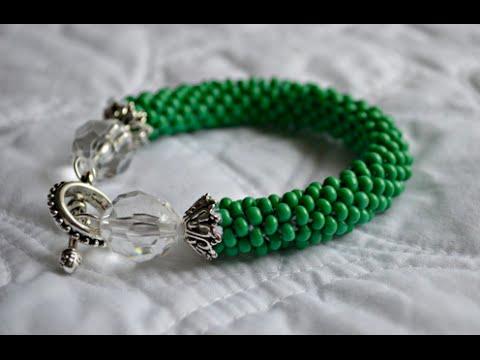 Glass Beaded Bracelet : Crocheted Rope Tutorial