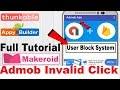 Admob Invalid Click Save Full Tutorial User Block System Thunkable Appybuilder Makeroid