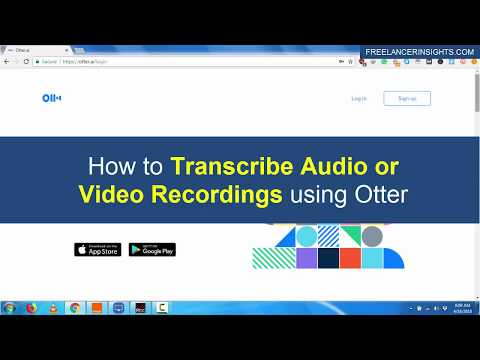 How to Transcribe Audio or Video Recordings using Otter