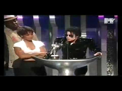Michael and Janet Jackson accepting Best Dance Award '95