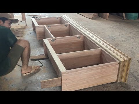 Amazing Woodworking Skill Carpenter - How To Build Kitchen Cabinets Frame Extremely Fast And Simple