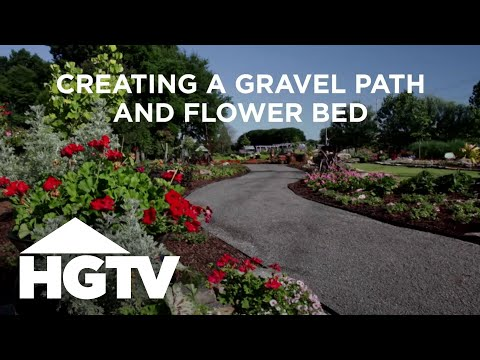 DIY Gravel Path & Flower Bed | HGTV Gardening