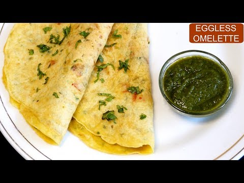 बिना अंडे का आमलेट | Eggless Omelette Recipe | Vegetarian Omelette | CookWithNisha