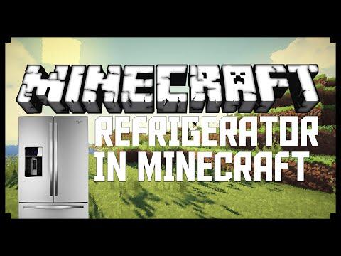 WORKING REFRIGERATOR IN MINECRAFT! (Minecraft Detail Tutorial)