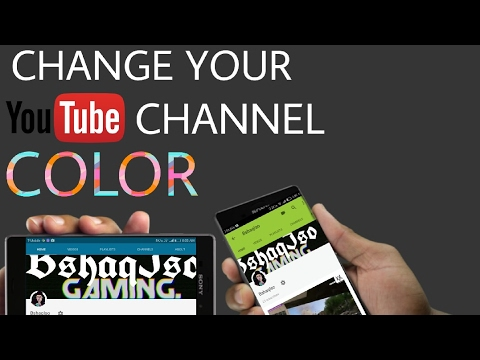 How To Change Your YouTube Channel Color