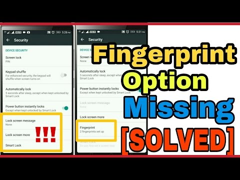 [SOLVED] Fingerprint option missing Lenovo k4 note, Moto g4 plus, redmi 3s, one plus 2 [hindi-हिंदी]
