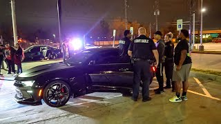 ANGRY DRUNK Camaro Driver vs. COPS at Car Meet! (ARRESTED!)