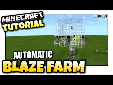 Minecraft - AUTOMATIC BLAZE FARM [ Redstone Tutorial ] MCPE / Xbox / Bedrock