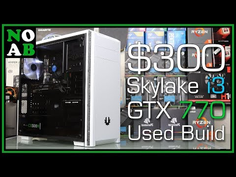 $300 Budget Gaming PC! (i3 6100, GTX 770, 8GB RAM vs PUBG, Fortnite, Destiny 2, GTA 5)
